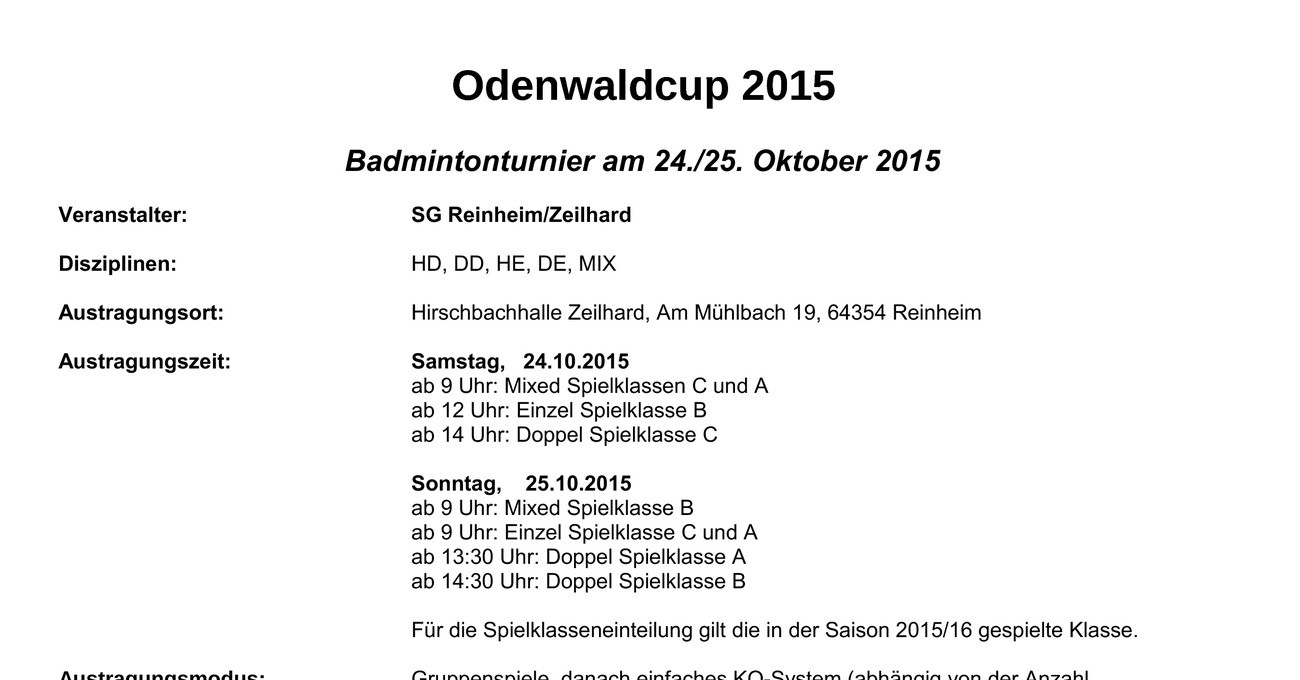 odenwaldcup 2015 badmintonturnier in reinheim. Black Bedroom Furniture Sets. Home Design Ideas