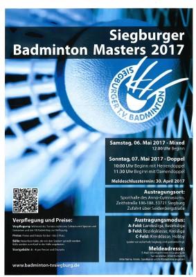 siegburg masters 2017 badmintonturnier in siegburg. Black Bedroom Furniture Sets. Home Design Ideas